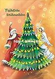 Weihnachtskarte Nina Chen * Weihnachtsmann, Engel & Tannenbaum