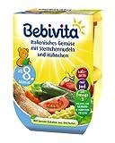 Bebivita Italienisches Gemüse mit Sternchennudeln und Hühnchen, 4er Pack (4 x 440 g)