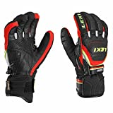 LEKI Worldcup Race Coach Flex S GTX, Black-Red-White-Yellow, 9, 63480123090