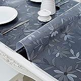 PVC-Transparente tischdecke,Wasserdicht Anti-verbrühende Isolierte Spitze Tischdecken,Couchtisch-untersetzer,Für Hotel Küche Partei-A 90x160cm(35x63inch) - 2