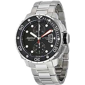 Alpina Alpina Seastrong Taucher 300 Chronograph Schwarz Zifferblatt Stahl Mens Watch AL-725LB4V26B