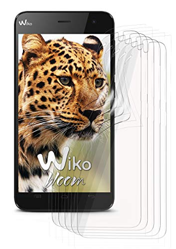 moex 5X Wiko Bloom | Schutzfolie Klar Bildschirm Schutz [Crystal-Clear] Screen Protector Display Handy-Folie Dünn Bildschirmschutz-Folie für Wiko Bloom Bildschirmfolie
