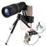 OUTERDO Monocular-Teleskop 16x52 Dual FokusBAK-7 Prism FMC wasserdichte Monokulare mit Handy-Adapter und Haltbarem Stativ für Vogelbeobachtung, Jagd, Camping, Wandern, Outdoor usw.