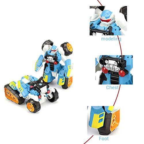 Creamon Kids Transformation Robot Verformungsspielzeug, Kids Transformation Robot Automodell Kinder Actionfigur Motorrad Einstufiges Verformungsspielzeug Kindergeschenke Blau