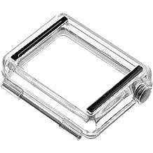 Vicdozia Puerta trasera funda impermeable para pantalla LCD BacPac batería de expansión Bac Pac impermeable caso de vivienda original Gopro Hero 3 +/4 (el caso de vivienda sin tornillos en el frontal del objetivo marco)