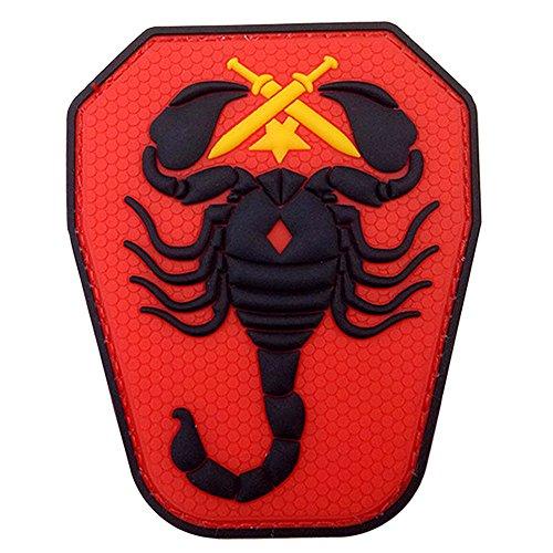 Minkoll 3D PVC Abzeichen, Armee USA Militärische Taktische Moral DIY Taktische Patch Abzeichen (Rot) -