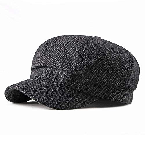 L.W.SURL Tweed achteckige Harris Baker Hut 8 Panel Gatsby Cap Unisex Herringbone Newsboy Cap Jagdhut (Color : 2, Size : Free Size) - Vintage Harris Tweed