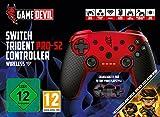 Game Devil - Trident Pro-S2 Wireless Controller, Color Rojo (Nintendo...