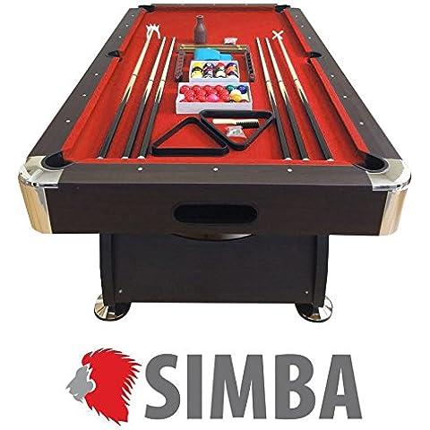 mesa de billar juegos de billar pool 8 ft carambola Medición de 220 x 110 cm roj Nuevo Envio Gratis embalado disponible