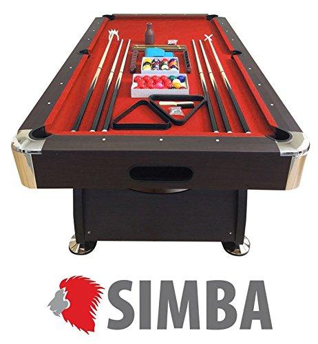 Billardtisch 8 ft Billard Billard-Spiel Messung 220 x 110 cm neue rot FULL OPTIONAL