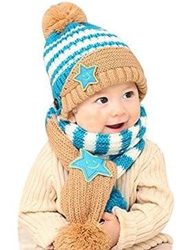 [Patrocinado]Bufandas del Bebé, Bluestercool Invierno Niño Niña Sombrero + Bufanda 2 en 1 De dos piezas cálido suave cómodo...