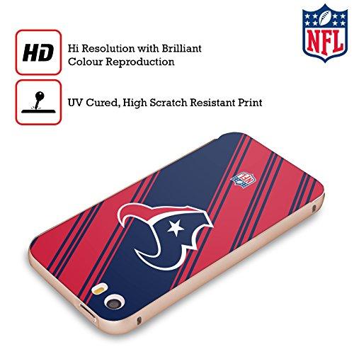 Ufficiale NFL Pattern 2017/18 Houston Texans Oro Cover Contorno con Bumper in Alluminio per Apple iPhone 5 / 5s / SE Righe