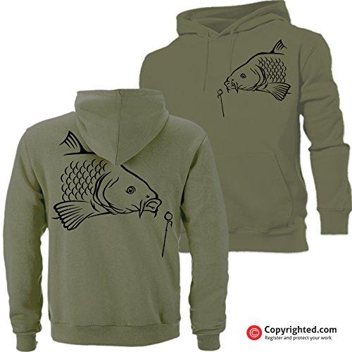 QBEC BIG CARP (A) hoodie hunter, fishing, angling ideal birthday, Father