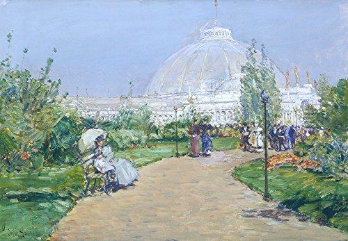 Das Museum Outlet-Gartenbau Building, World 's Columbian Exposition, Chicago, 1893-Leinwand (61x 81,3cm)