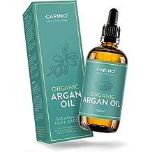 Carino HealthCare BIO Arganöl 100ml aus Marokko 100% rein kaltgepresst Anti-Falten Anti-Aging-Pflege für Haut Haare und Nägel Serum Haut Haare