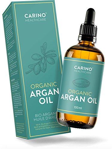 Arganöl Bio kaltgepresst für Gesicht Haut Haare - 100ml Argan Öl 100% rein & aus zertifiziert biologischem Anbau