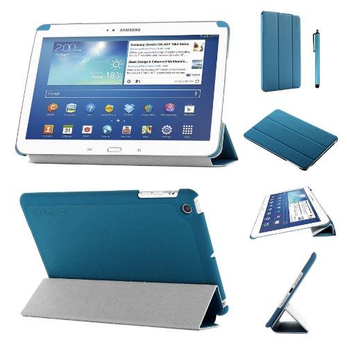 lim zusammenklappbar Multi Position Fall mit Tri Fold Stehen für 17,8cm Samsung Galaxy Tab 3, Blau ()