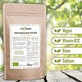Fit4Taste Bio Spirulina Pulver   Rohkostqualität   Bio   Vegan   Für Smoothies und Joghurts   Superfood   450 g