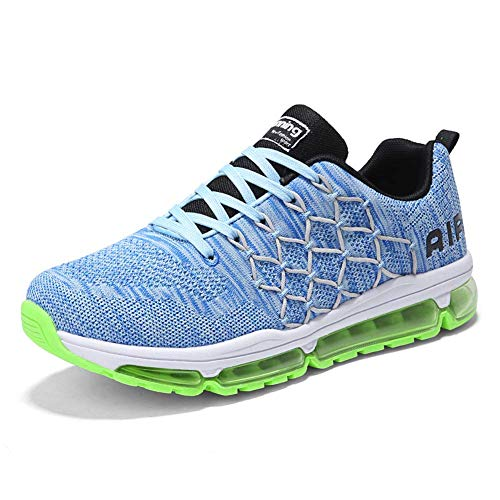 Uomo Donna Air Scarpe da Ginnastica Corsa Sportive Fitness Running Sneakers Basse Interior Casual all'Aperto 1643 Blue 41