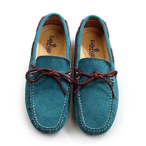 Baymate Homme Chaussures de Désinvolte Mocassines Avec La Semelle Antidérapant Chaussures Bateau Ciel Bleu