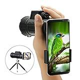 SGODDE 10x 52Monokular Scope, Tragbar HD Spektive Optische Prism Teleskop mit Handschlaufe/Stativ und Universal Handy Adapter für die Vogelbeobachtung, Wildlife betrachten