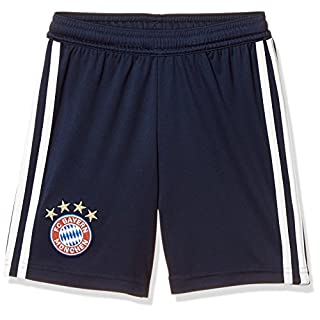 adidas Kinder 18/19 FC Bayern Home Short, Collegiate Navy/White, 140