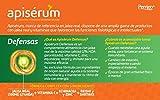 Apisérum Defensas Cápsulas - Jalea Real, Vitaminas, Echinacea, Zinc, Reishi y Shitake - Multivitamínico - Épocas de Cansancio y Fatiga