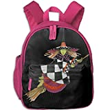 Witch Fly With Broom Kid And Toddler Student Backpack School Bag Super Bookbag