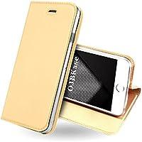 OJBKase Funda iPhone 5/5S/SE, Piel sintética Billetera Carcasa Protectora Cartera y