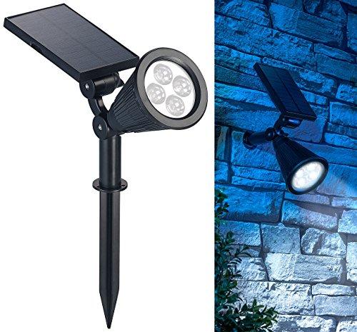 Luminea Solar Strahler: Solar-LED-Spot mit Erdspieß für Garten & Co, 200 Lumen, 1,5 Watt, IP44 (Solar Gartenstrahler mit Erdspieß)