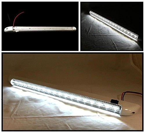 Preisvergleich Produktbild 24-V-Innenraumbeleuchtung mit 18LEDs, steifer Leuchtstreifen, 400mm, An-/Ausschalter, für Lkw, Boot, Yacht, Wohnwagen