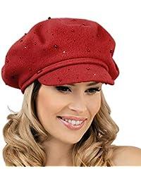 43f43c152755e0 Elegant Ladies Red Wool Beret Hat MEZO - Stylish Women's Winter Hat  Woolmark Quality