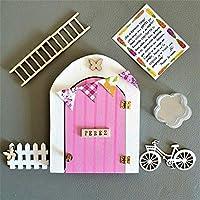 Puerta Ratoncito Perez que se abre de madera (TALLER ARTESANAL) con accesorios * rosa*