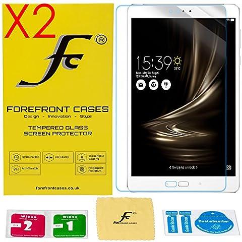 Forefront Cases® [HD CLARTÉ] Film de protection d'écran écran en verre trempé Glass Screen Protector pour ASUS ZenPad 3S 10 Z500M [ULTRA MINCE 0,3mm SEULEMENT] - PACK DE 2