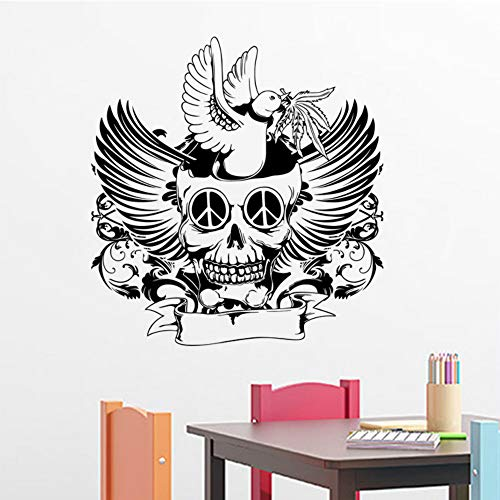 del Persönlichkeit Wandaufkleber Kreative Abnehmbare PVC Hintergrund Dekorative Aufkleber Halloween Decor Fenster Aufkleber 61x58 cm ()