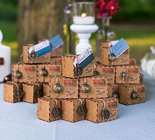 Regalos de boda Rústicos, Inspirados en correo aéreo antiguo, con ad