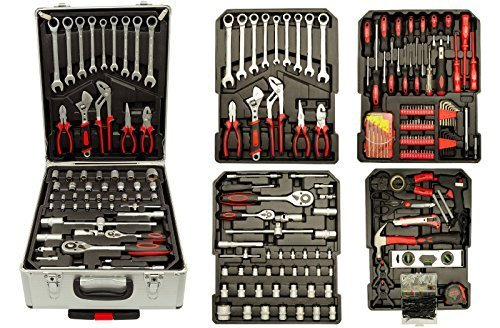 387tlg Werkzeug-Trolley Set Werkzeugkasten Werkzeugkoffer inkl Ratschenschlüssel