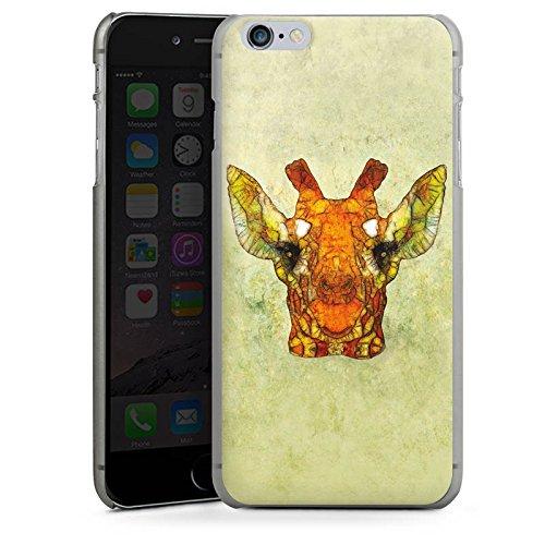 Apple iPhone X Silikon Hülle Case Schutzhülle Giraffe Muster Wasserfarbe Hard Case anthrazit-klar