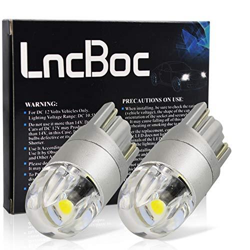 LncBoc T10 LED Auto Lampadina W5W LED luci dell'automobile Bulb 2SMD 3030LED 6000K Blanco 194 168 Per la Luce Interna Dell'auto Targa Lampade Replacment 12V Confezione da 2