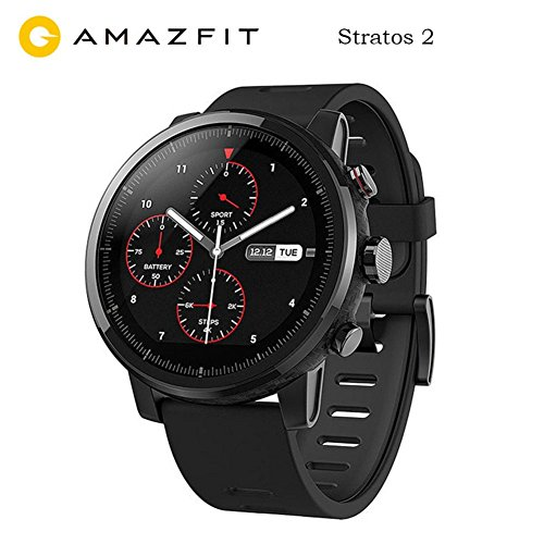 Intelligent Clock Xiaomi Amazfit Amazfit Stratos 2 International Version with GPS Black