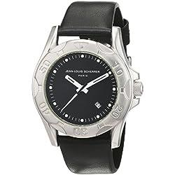 Jean Louis Scherrer men's Quartz Watch Analogue Display and Leather Strap SPGM923
