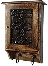 Craftland Wooden Wall Hanging Decorative Key Box/Key Rack Cabinet/Hanger