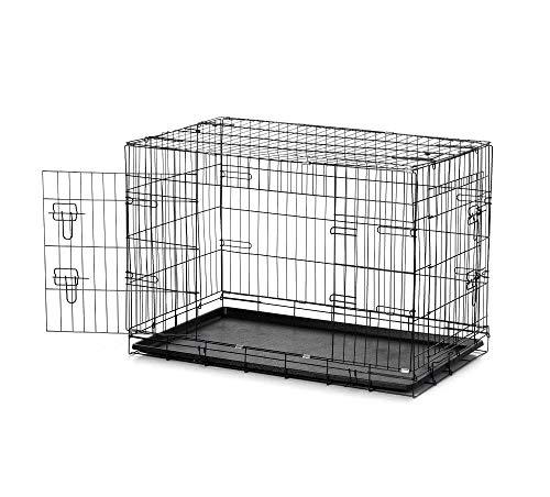 takestop® Klappkäfig aus Metall, 47 x 31 x 40 cm, für Haustiere, Haustiere, Hunde, Katze, Tür auf der Seite