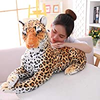 Rcd Lifelike Tiger Leopard Plush Toys Soft Stuffed Animals Simulation White Tiger Jaguar Doll Children Kids Birthday Gifts