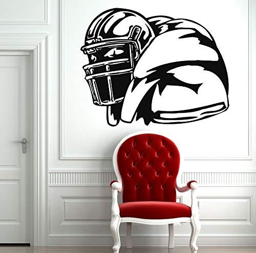 ziweipp Rugby Aufkleber American Football Sport Wand Vinyl Aufkleber Home Interior Wandbilder Kunst Dekoration Gym Wandaufkleber Home Decor42 * 35 cmKein Rahmen (Home Interior Rahmen, Dekorationen)