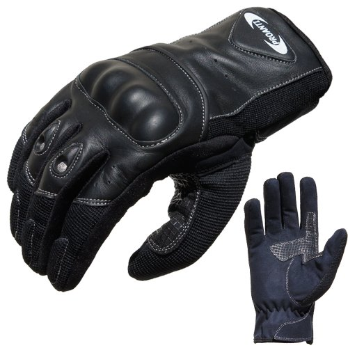 Motorradhandschuhe Sommer PROANTI® Motorrad Handschuhe (Gr. XS - XXL, schwarz, kurz) - XXL