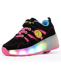 FLARUT Mujer Zapatos Con Rueda Junior Led Zapatillas de Patìn Roller Sneakers Deportivos con luz …