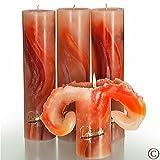 Candela Lotus-Kerze Aquarell Erd Töne 28 cm