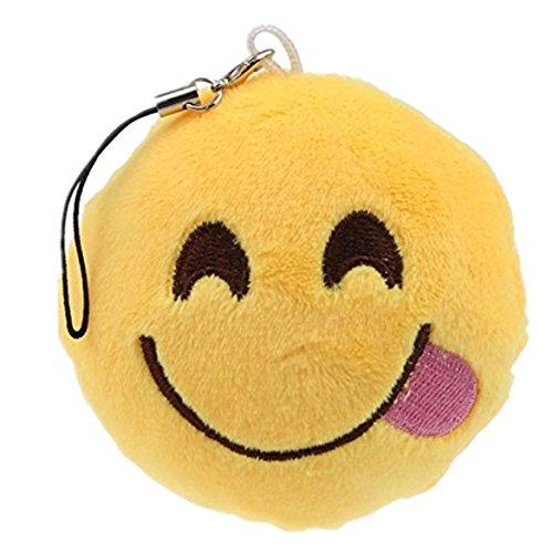 ZARU Emoji Emoticon Keychain Weiche Anhänger Tasche Zubehör (G)