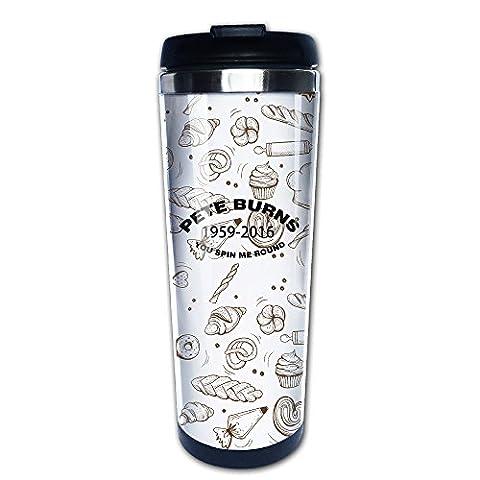 Pete Burns You Spin Me rond Mug à café Café Mug de voyage 400ml ou 300,5gram en acier inoxydable Café Thermos Mug de voyage avec couvercle facile à nettoyer Thermos pour boire Café Lait jus ou Tasses à thé
